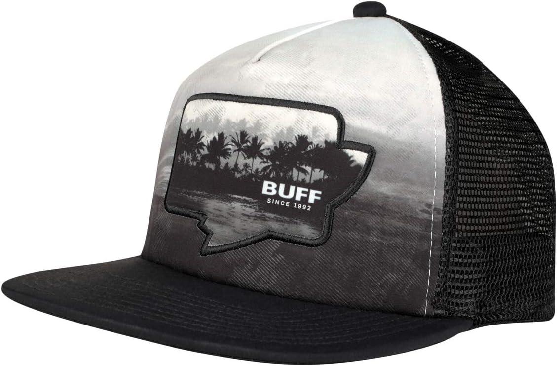 Buff Sendel Gorra Trucker, Adultos Unisex, Negro, L/XL