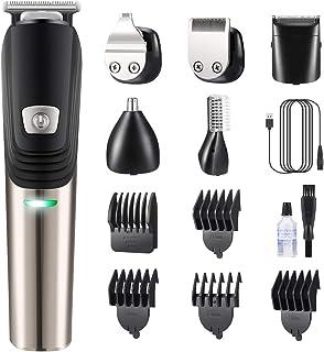 Hair Clipper Beard Trimmer Kit For Men, 6 in 1 Electric Hair trimmer Mustache Trimmer Shaver Body Groomer Cordless Precisi...