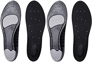 [Letlar] インソール 靴の中敷き なかじき 衝撃吸収 3D 低反発 クッション 消臭 マイサイズ調整 黒 セット