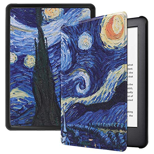 Capa Kindle 10ª geração com iluminação embutida – Auto Hibernação – Fecho Magnético – Van Gogh
