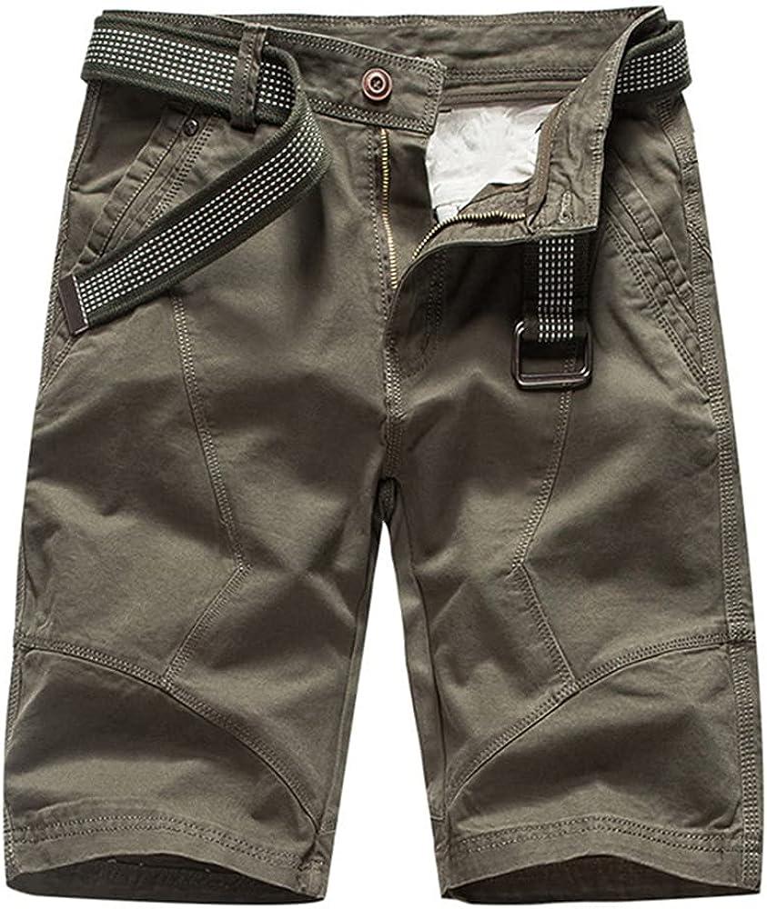 NP Summer Mens Shorts Green Army Shorts Men Loose Work