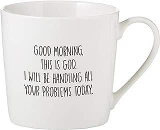 Faithworks F1816 Bone China Coffee Mug/Cup White, 14-Ounces, Good Morning This is God