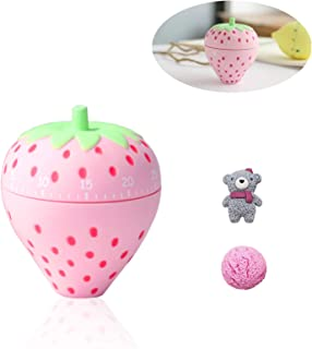 MEPLUM Kids Kitchen Timer Cute, Kitchen Timer Wind up with 2PCS Refrigerator Magnets, Fruit Fun Kitchen Timers for Cookin...