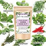 Herb Seeds for Gardening, 10 Seed Varieties Included in This Grow Your Own Herb Garden Kit, Bees & Seeds...