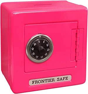 "Mini Lockers by Magnetic Impressions Kid's Frontier Safe Coin Saver Bank with 2 Digit Combination Lock - 5.25"" High x 5.2"" x 3.9"" Hot Pink"