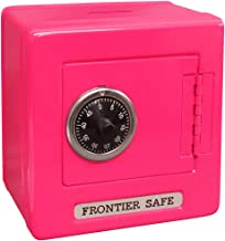 """Mini Lockers by Magnetic Impressions Kid's Frontier Safe Coin Saver Bank with 2 Digit Combination Lock - 5.25"""" High x 5.2"""" x 3.9"""" Hot Pink"""