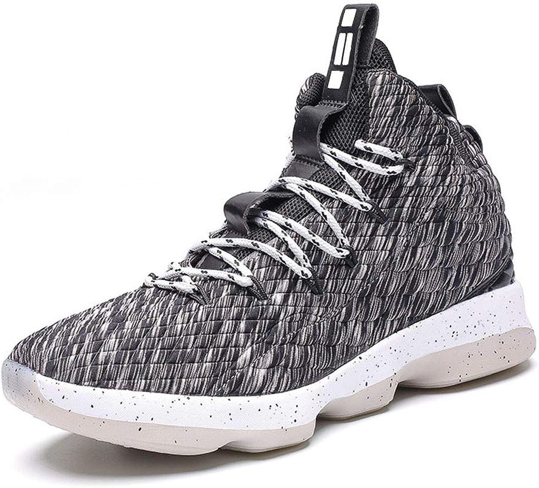 JIYE Men's Fashion Basketball shoes Women's Breathable Flyknit Sneakers