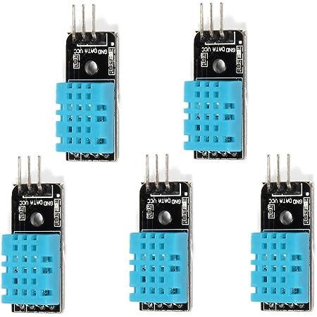 OSOYOO DHT11 デジタル 温度 湿度 センサー モジュール デジタル温湿度測定 ArduinoやRaspberry Pi 2 3電子工作用 5個セット
