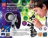 Teleskop und Mikroskop Set für den Einstieg in Kosmos und Mikrokosmos Extrahandlupe
