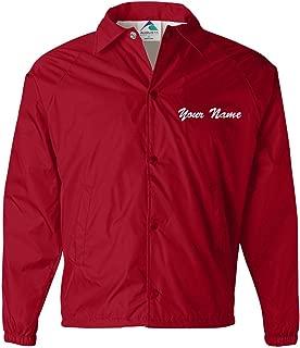 Custom Name Embroidered Adult Unisex Windbreaker Coach's Jacket