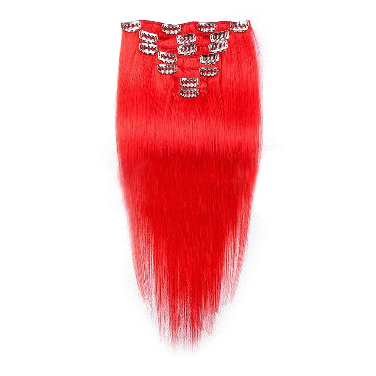 率直な承認するインテリアYESONEEP 7ピースフルヘッドセットクリップでヘアエクステンションヘアピースシルキーストレート人間の髪16