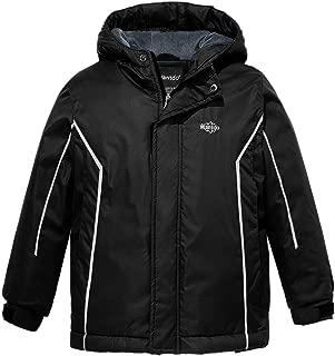 Boy's Waterproof Ski Fleece Jacket Windbreaker with Refective Stripes