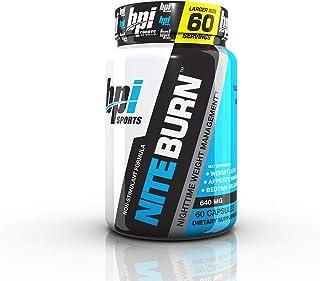 BPI Sports Nite Burn – Fat Burner – Sleeping Pill – Keto-Friendly – Weight Loss, Burn Fat, Relaxation, Boost Metabolism – 60 Servings – 640mg