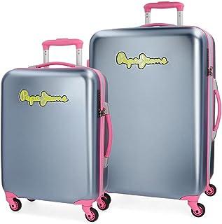 Pepe Jeans Bristol Set 2 maletas, 136 litros, 77 cm, Gris
