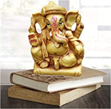 Affaires MUNIM Ganesh Beautiful Brown Ganesha, Ganpati Murti Idol Statue Sculpture for car G-517
