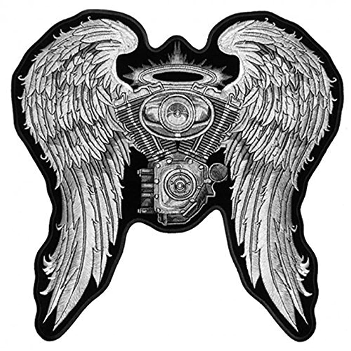 Hot Leathers, LADIES ASPHALT ANGEL, High Thread Embroidered Iron-On / Saw-On Rayon BIKER PATCH - 10