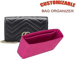 For GG Marmont super mini matelassé shoulder bag insert organizer insert organizer