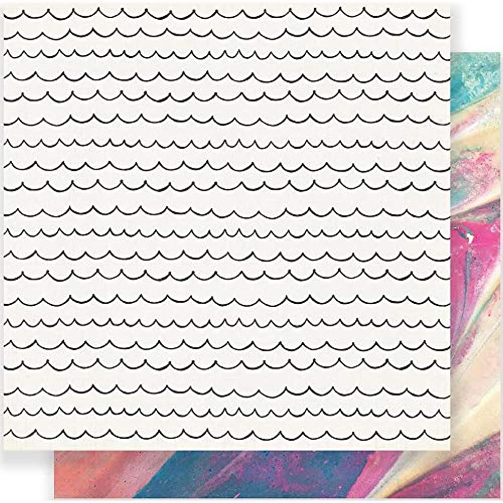 American Crafts Maggie Holmes Carousel 25 Pack of 12x12 Inch Paper Cotton Candy, Piece