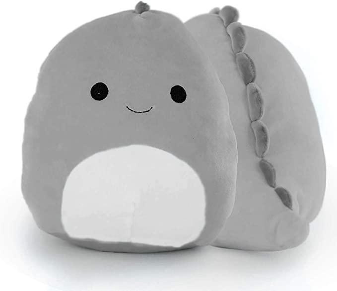 1 Pcs Cute Plush Toys,3D Cute Dinosaur Stuffed Toy, 8 Inch Cotton Plushies Doll Soft Lumbar Back Cushion Pillow,for Car Home Decoration.(Blue)