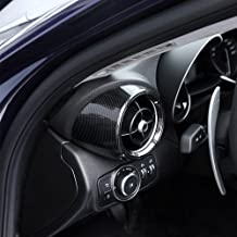 SODIAL Tira de Decoraci/ón de Volante de Estilo de Fibra de Carbono Real Accesorios para Autom/óvil Alfa Romeo Giulia Stelvio 2017 2018 2019