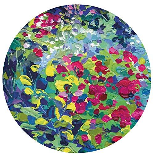 W-WEE Hermosas Flores Cojines Antideslizantes cómodos Alfombra Redonda Alfombra Redonda Alfombrilla Linda Alfombra Redonda de baño 60cm