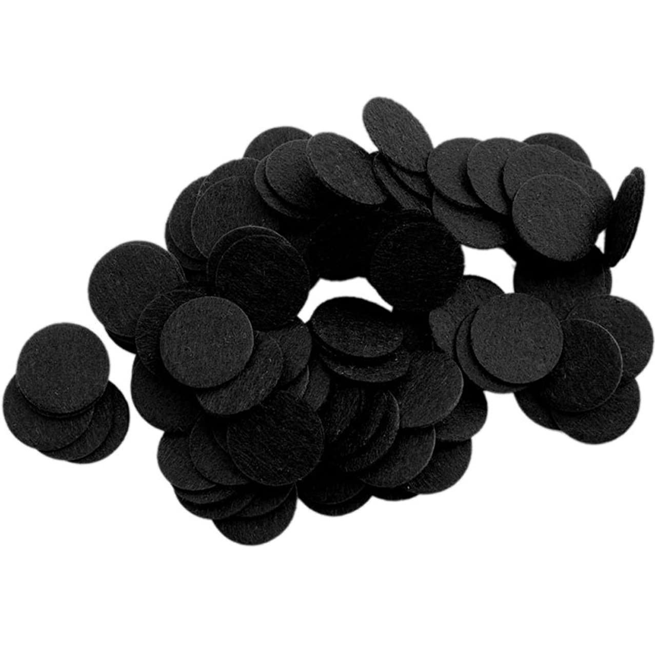 Playfully Ever After 1 Inch Black 100pc Stiff Felt Circles