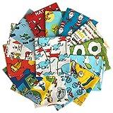 Robert Kaufman DR. Seuss Half Yard Bundle 15 Precut Half Yards Cotton Fabric Quilting Assortment