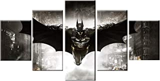 Pangoo Art 5 Piece Frameless Printed Batman Poster Prints Canvas Pictures Paintings on Canvas Wall Art for Home Decor Unframed Poster