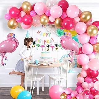 Flamingo Party Balloon sets Pink Flamingo Party Decorations Supplies Kit-Flamingo Banner,Flamingo Balloons, Latex Balloons...