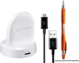 Samsung Wireless Charger for Samsung Gear S2 & Gear S2 Classic EPOR720 White + MKK Stylus - Non Retail Packaging