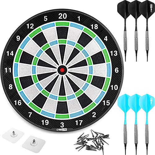 CyeeLife 18in No Electronic Dart Board for Soft...