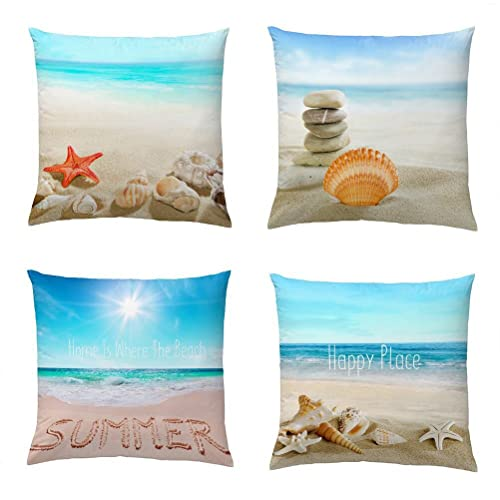 Exceptionnel Wonder4 Decorative Throw Pillow Covers Set Of 4 Cotton Linen Cushion Covers  18 X 18 Inch