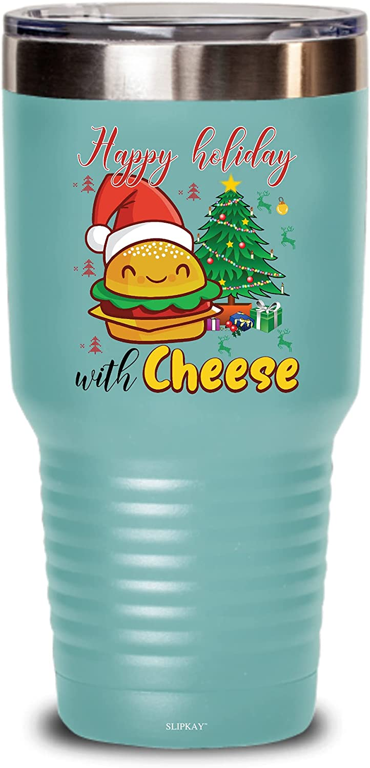 Happy Holidays With Direct Max 62% OFF store Cheese Christmas G Cheeseburger 30oz Tumbler