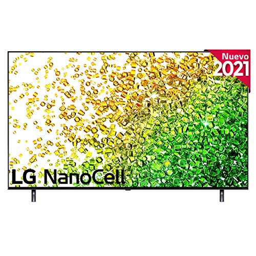 "LG NanoCell 55NANO85-ALEXA 2021-Smart TV 4K UHD 139 cm (55"") con Inteligencia Artificial, Procesador Inteligente α7 Gen4, Deep Learning, 100% HDR, Dolby ATMOS, HDMI 2.1, USB 2.0, Bluetooth 5.0, WiFi"
