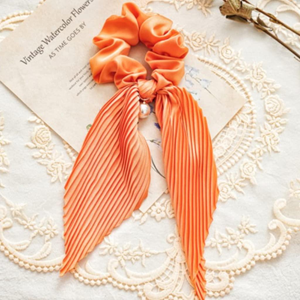 EEKLSJ Women Streamers Scrunchies Max Max 60% OFF 53% OFF Polka Dot Floral Elastic Print