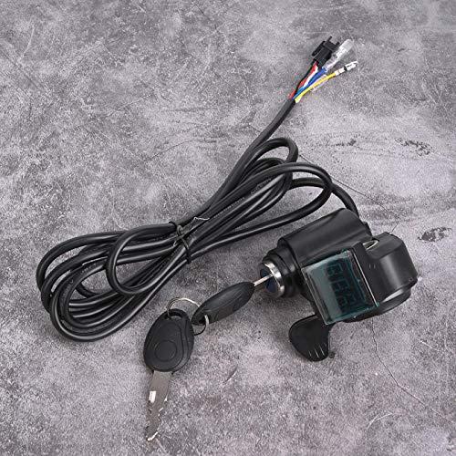 DAUERHAFT Interruptor de alimentación eléctrica Pantalla de Voltaje en Tiempo Real, para vehículo eléctrico de 12 V-99 V, Apto para batería de Litio/Agua/Plomo-ácido