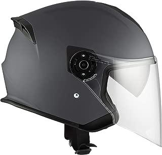 Motorcycle Helmet Open Face CKX Razor RSV Solid Mat Grey Medium Adult Medium