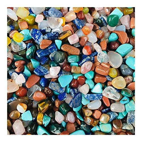 Decorativo Cristales, Grava Cristales curativos, Cristales de Colores y Piedras curativas for el Tanque de Pescados del jardín Natural (Size : 50g)