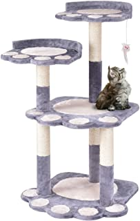 HTH ONLINE STORE Cat Tree Kitten Pet Furniture Multi-Level Climb Scratching Posts Paw Gray