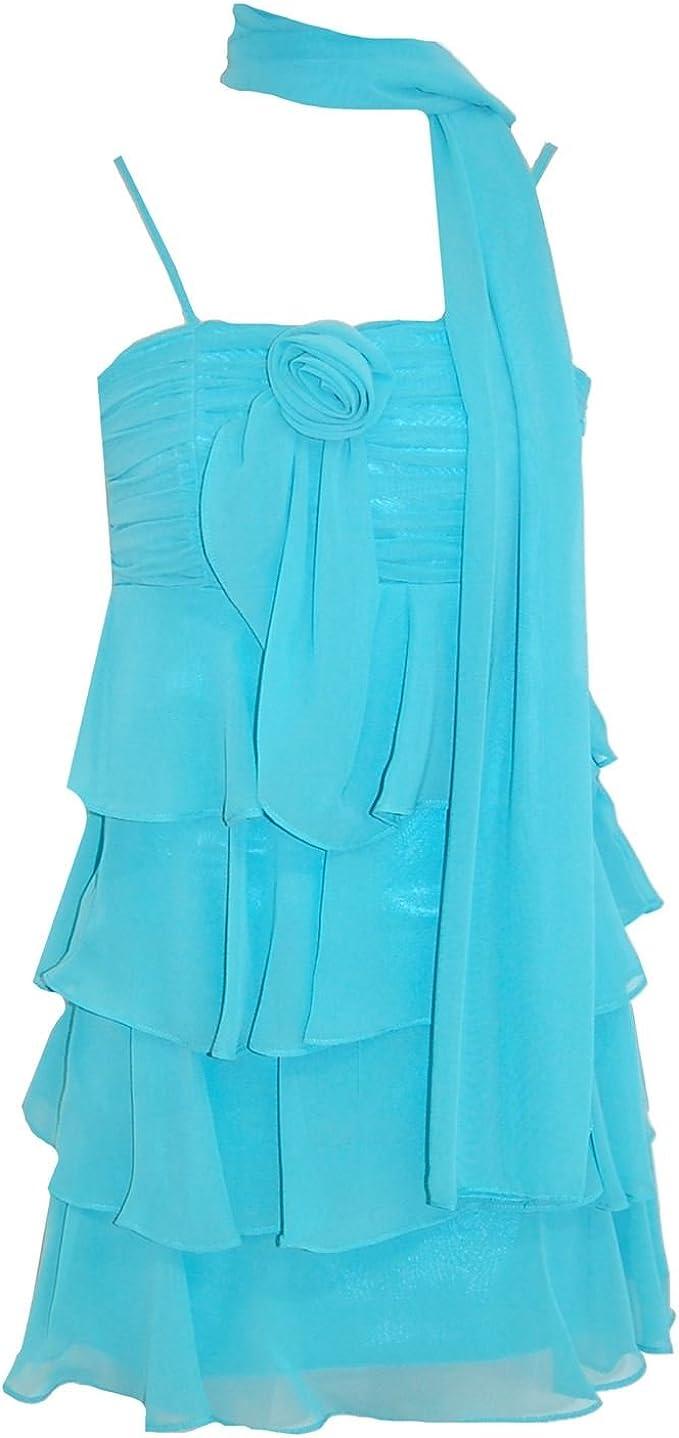 Gol G O L Festkleid Festliches Kleid Madchen Mit Stola Turkis Kleider Amazon De Bekleidung