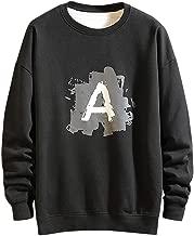 LEKODE Coat Man Printed Crewneck Sport Sweatshirt