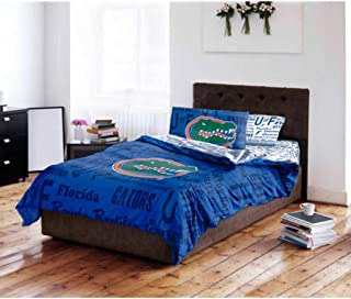 Florida Gators NCAA FULL Comforter & Sheet Set (5 Piece Bed In A Bag)
