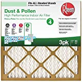 20 in. x 20 in. x 1 in. Basic Household Pleated Air Filter (3-Pack)