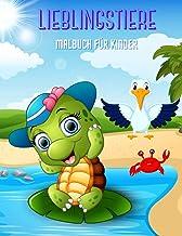 LIEBLINGSTIERE - Malbuch Für Kinder (German Edition)