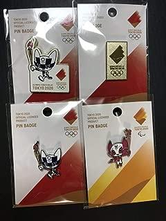 東京2020 オリンピック パラリンピック ピンバッジ 聖火リレー ミライトワ ソメイティ 4種