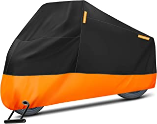 Puroma Motorcycle Cover, XXX-Large Waterproof Motorbike Cover Outdoor Indoor Scooter Shelter Protection with 4 Reflective ...