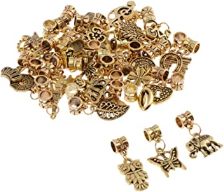 Prettyia 40 Pack Assorted Charms Beads Bulk for DIY Craft Pendants Bracelet Necklace Earring Keychain Jewelry Making Findi...