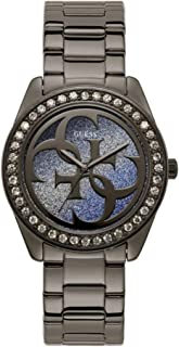 Guess Womens Quartz Watch, Analog Display and Stainless Steel Strap W1201L4