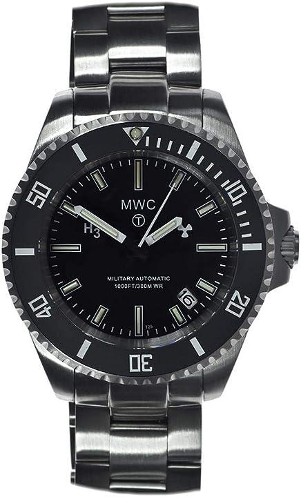 Orologio militare mwc automatic diver tritium gtls ceramic sapphire military uomo orologio SUA/SL/SS/BB