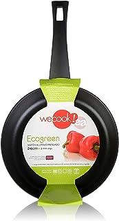 We Cook Ecogreen Sarten, Aluminio Prensado, Negro, 20 cm